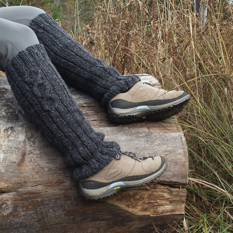 jambieres laine-wool leg warmers charcoa-gris-grey-guetres--mailles.ca
