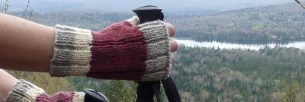 gants-laine-winter gloves-gloves-wool-mailles.ca-rose fonce-creme-gris